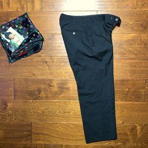★ made in italy men's slacks black laine wool